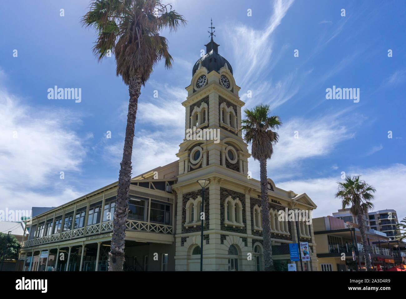 The Town hall of Glenelg, Australia Stock Photo