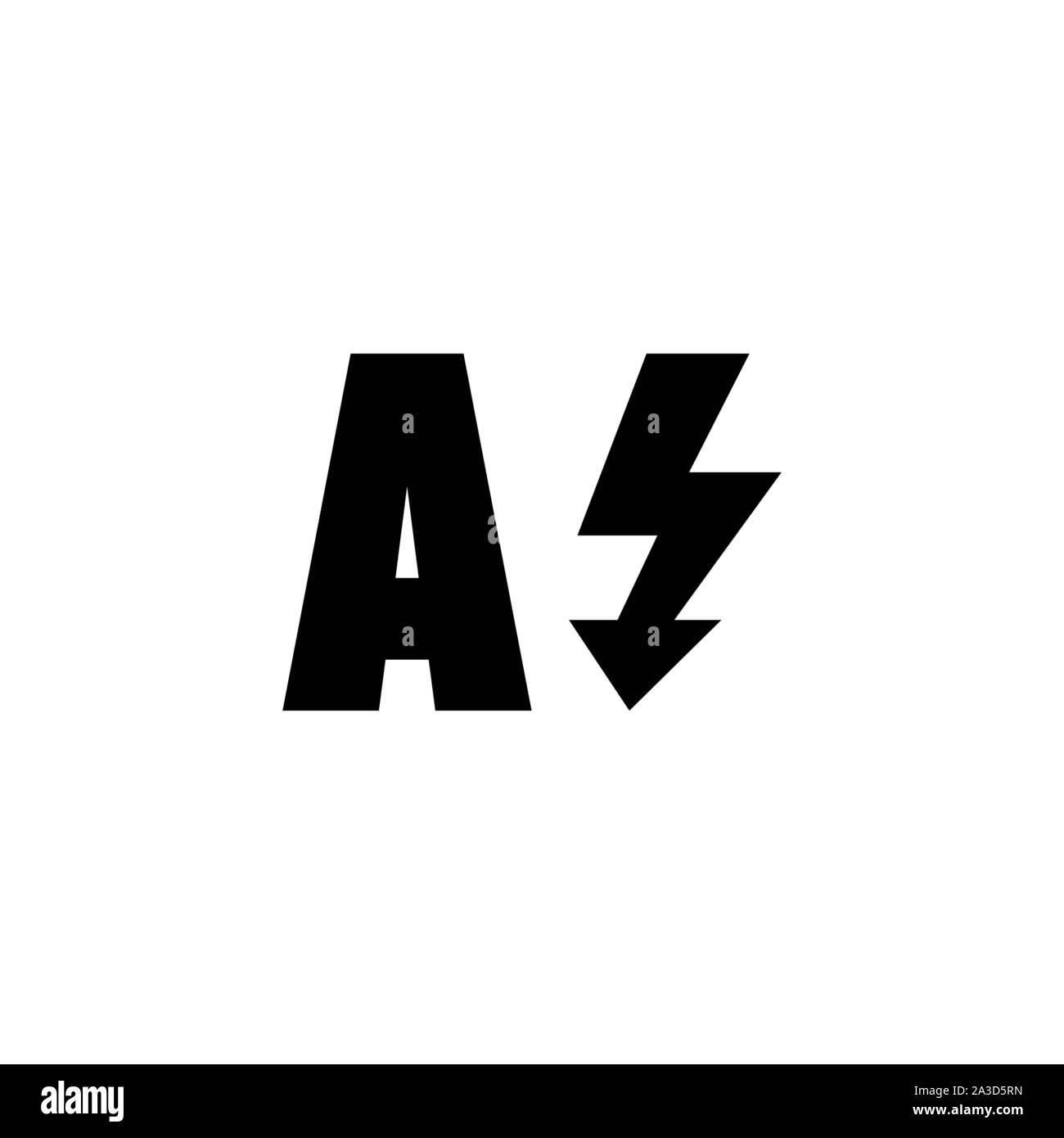 Auto Flash, Light Camera Mode. Flat Vector Icon illustration. Simple black symbol on white background. Auto Flash, Light Camera Mode sign design templ Stock Vector
