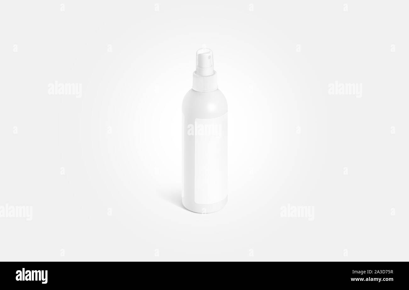Blank White Deodorant Bottle With Label Mockup Isolated On Gray