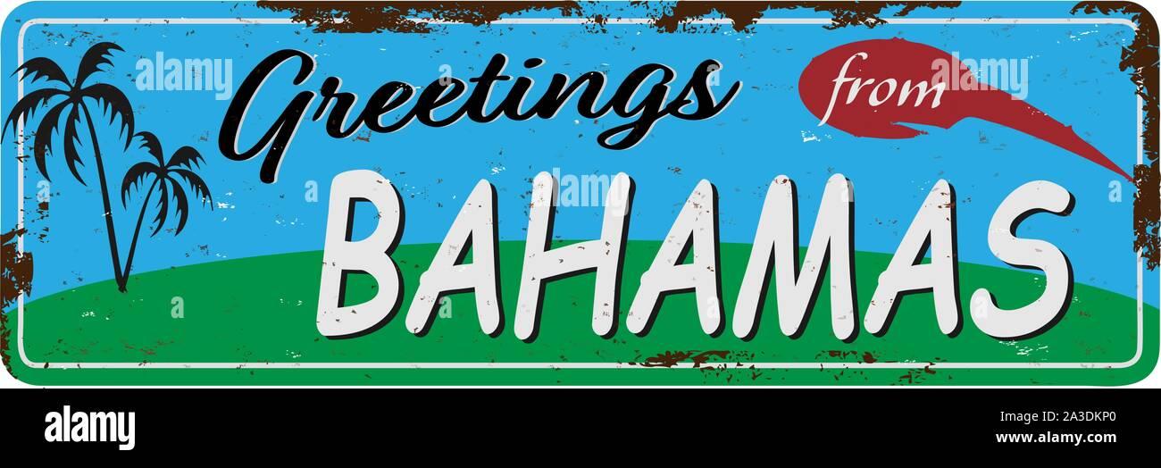 Tin Sign City Freeport Bahamas