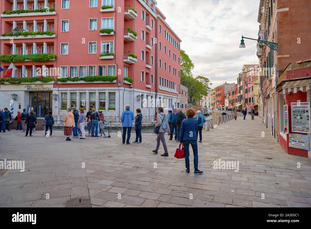 VENICE, ITALY - CIRCA MAY, 2019: urban landscape of Venice. Stock Photo