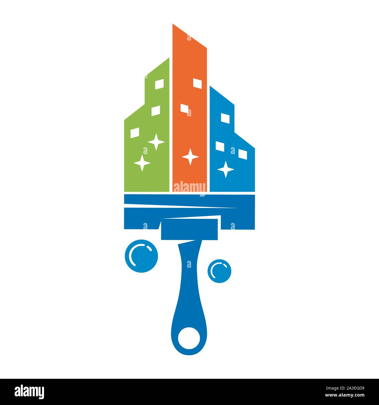 Cleaning Service Business Logo Design Eco Friendly Concept For Interior Home And Building Stock Vector Image Art Alamy