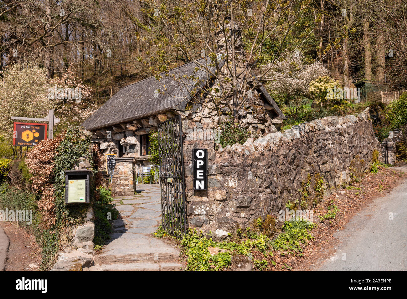 The Ugly House at Betws-y-Coed, Snowdonia, North Wales Stock Photo