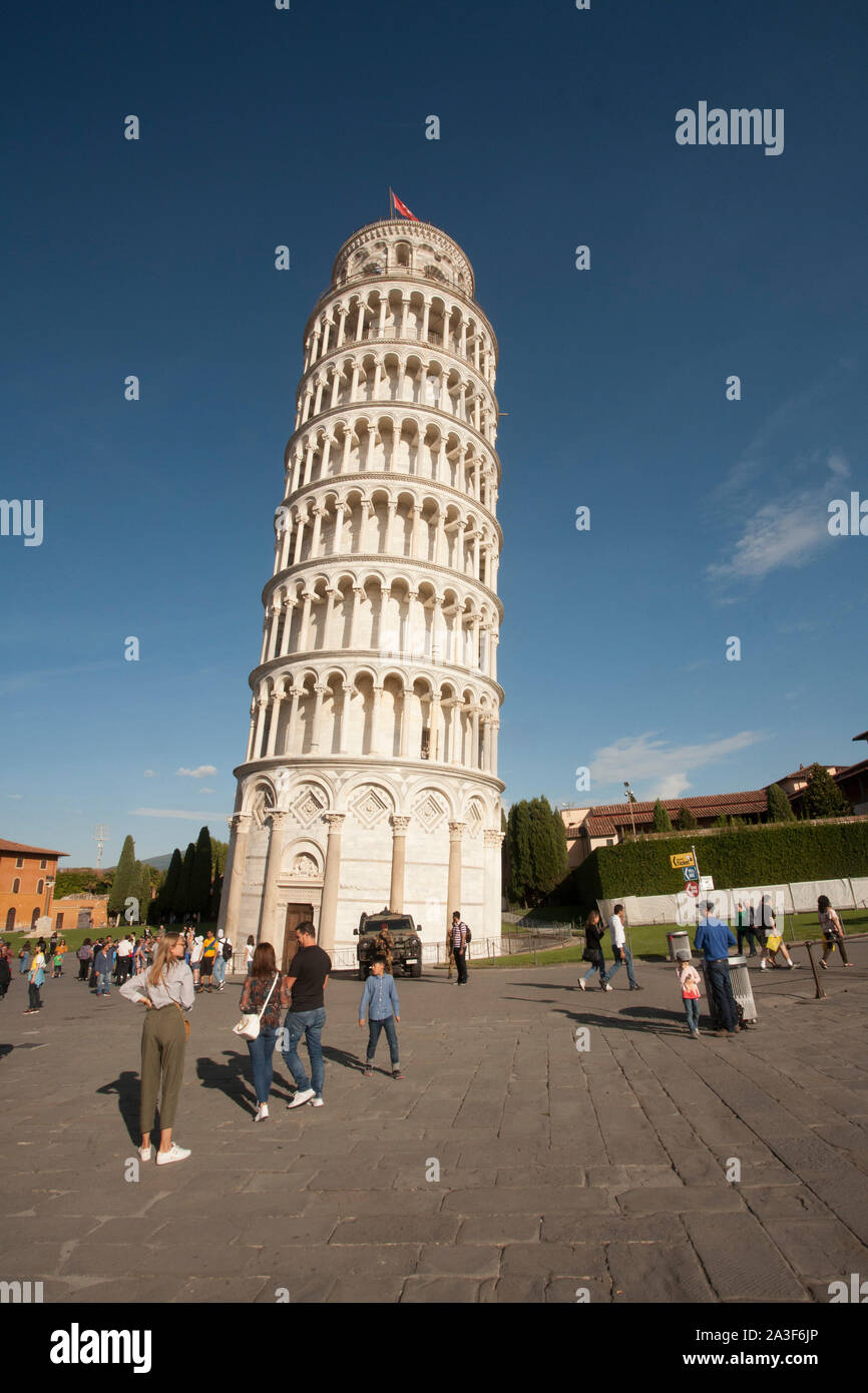 Pisa, Pisa Province, Tuscany, Italy. Campo dei Miracoli, or Field of Miracles. Also known as the Piazza del Duomo. The cathedral, or Duomo, and its be Stock Photo