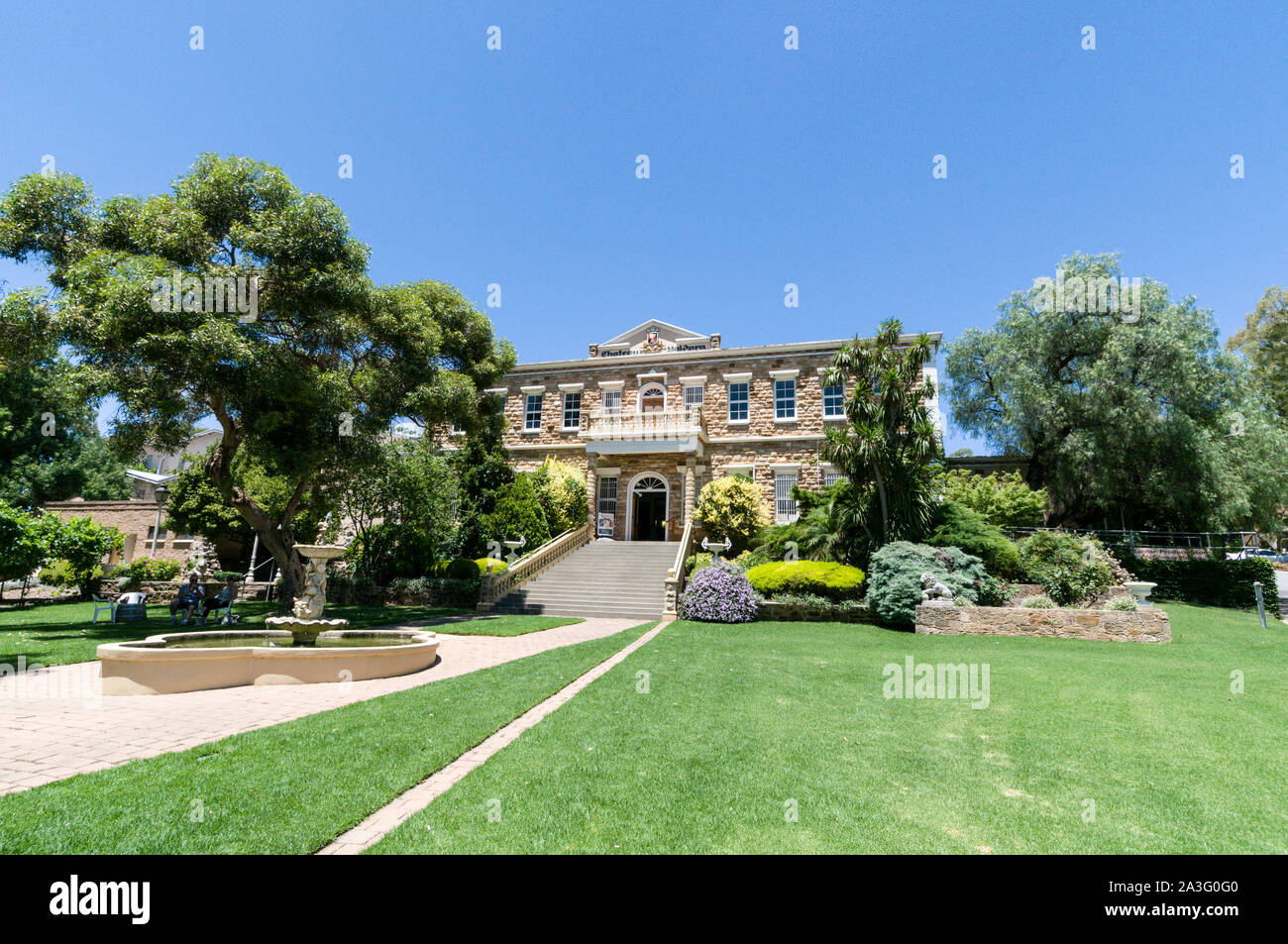 Chateau Yaldara on the McGulgan winery estate in the Barossa Valley wine region in South Australia.   There are about 150 wineries in the Barossa Vall Stock Photo