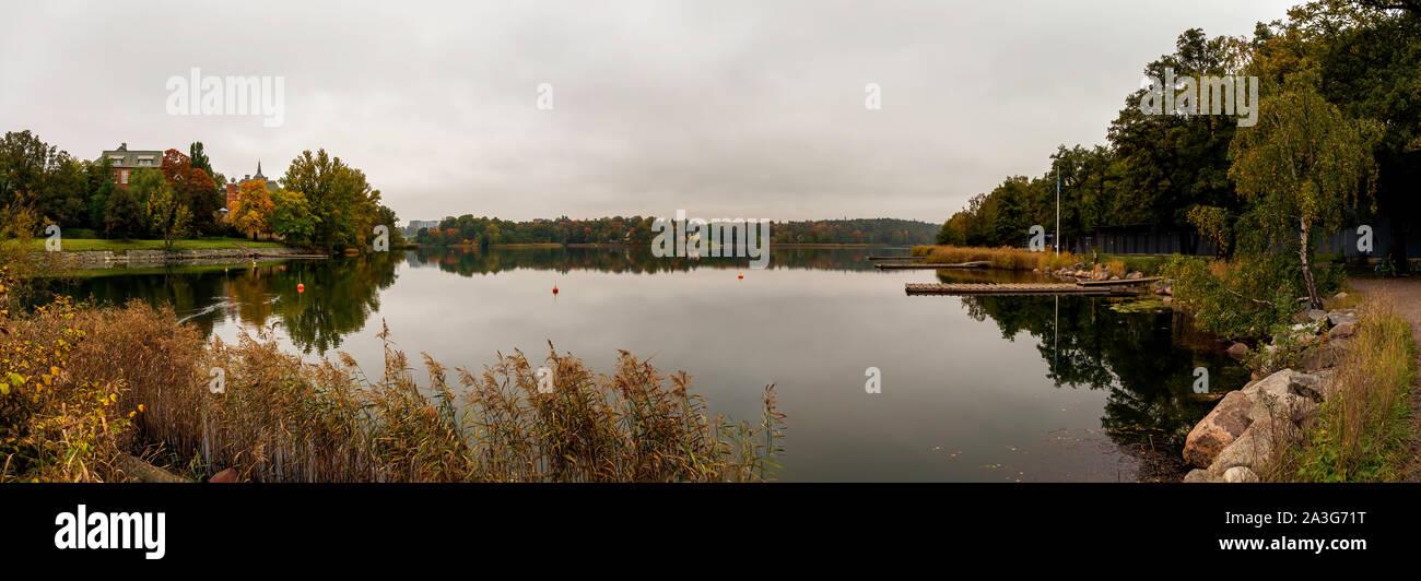 Lake Brunnsviken in Stockholm Stock Photo