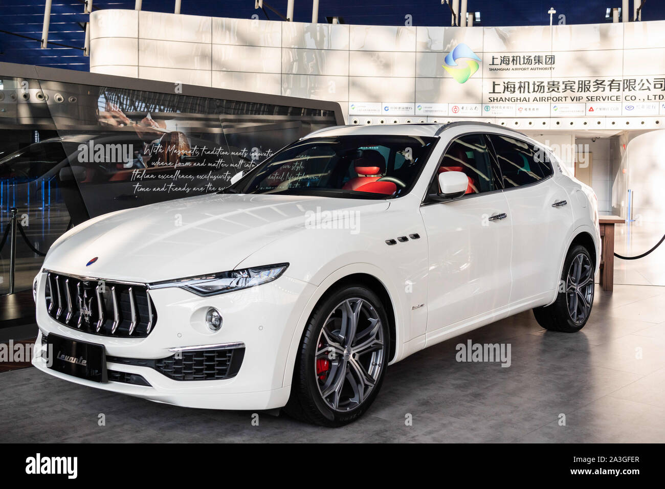 Shanghai China 3rd Oct 2019 Maserati Levante A Mid Size Luxury Crossover Suv Seen In Shanghai Pudong International Airport Credit Alex Tai Sopa Images Zuma Wire Alamy Live News Stock Photo Alamy