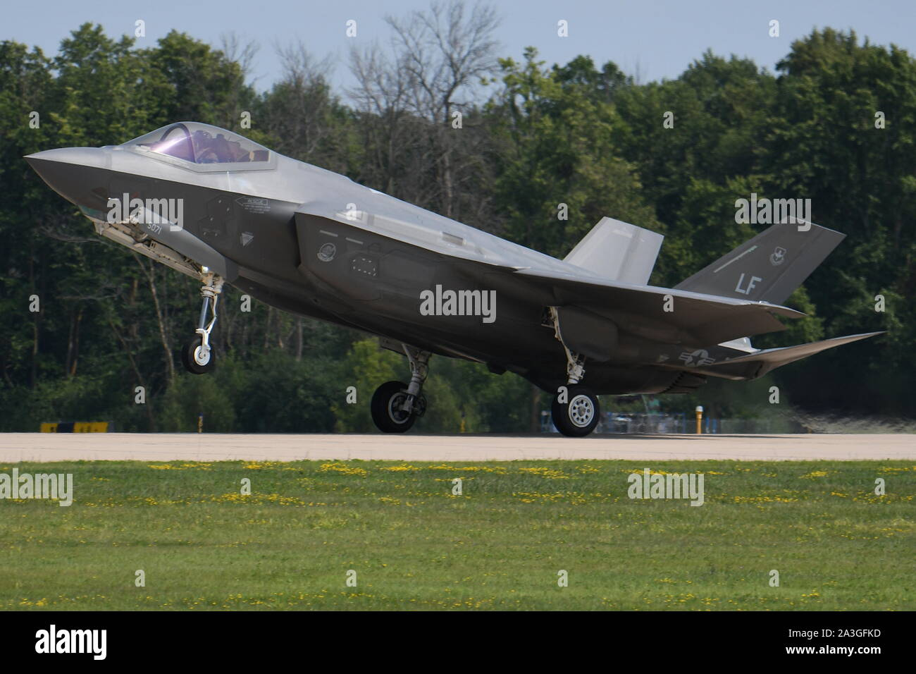 LOCKHEED MARTIN F-35 LIGHTNING II OF THE 56th FIGHTER WING, U.S. AIR FORCE. Stock Photo