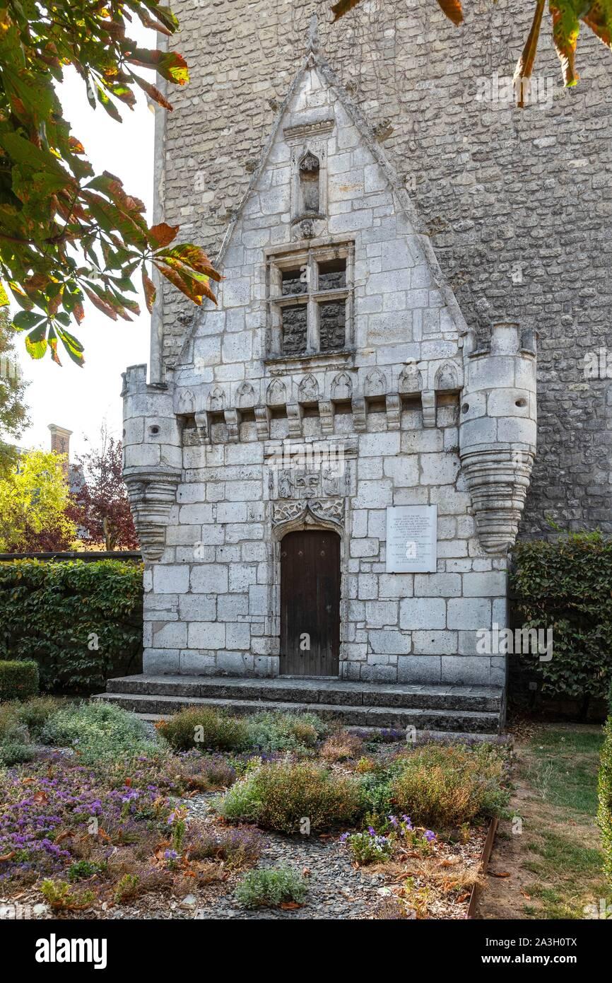 France Yvelines Saint Germain En Laye Jardin Des Arts Stock