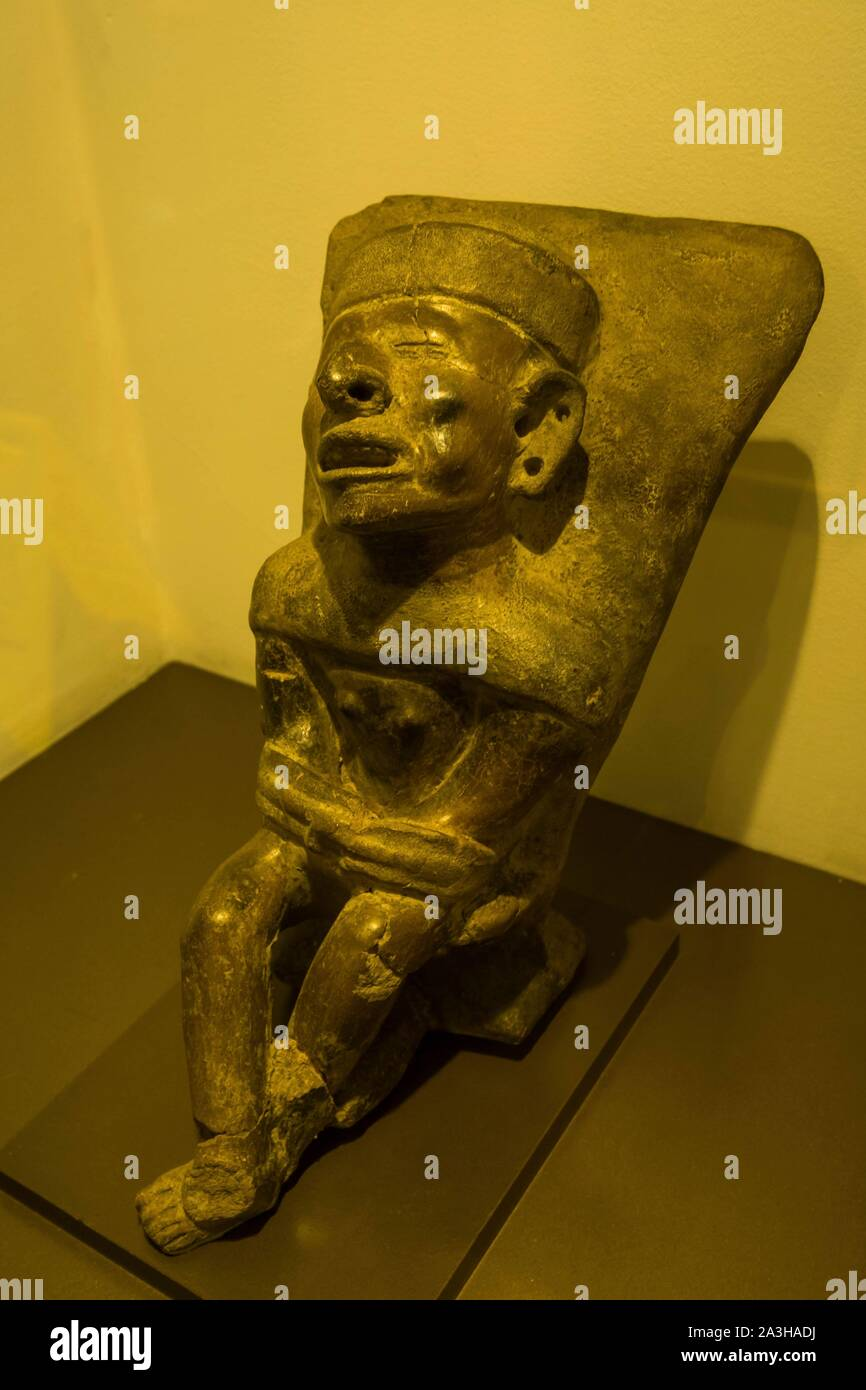Ecuador, Quito, registered World Heritage by UNESCO, museo Casa del Alabado, or museum of pr?colombian arts, the tortured, human sacrifice Stock Photo