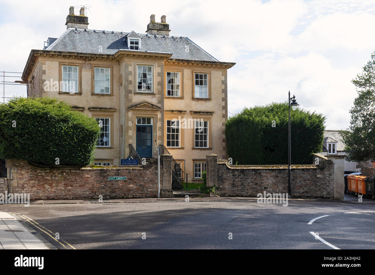 Wells Cathedral School - Claver Morris House, The Liberty - Wells, Somerset, England Stock Photo