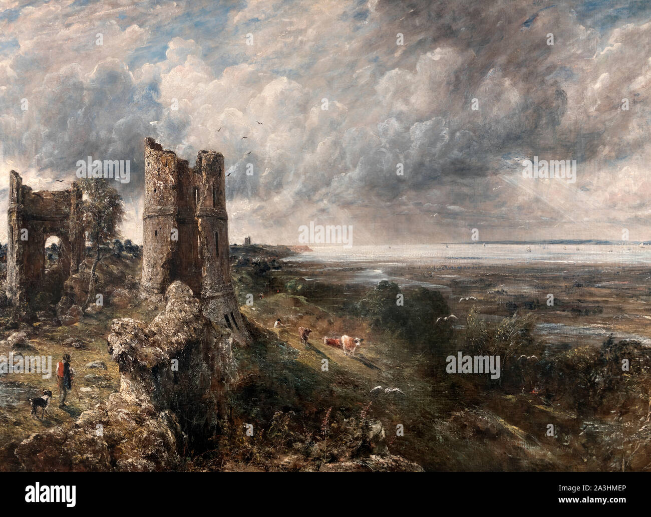 Hadleigh Castle - The Mouth of the Thames the Morning after a Stormy Night by John Constable (1776-1837), oil on canvas, c.1826 Stock Photo