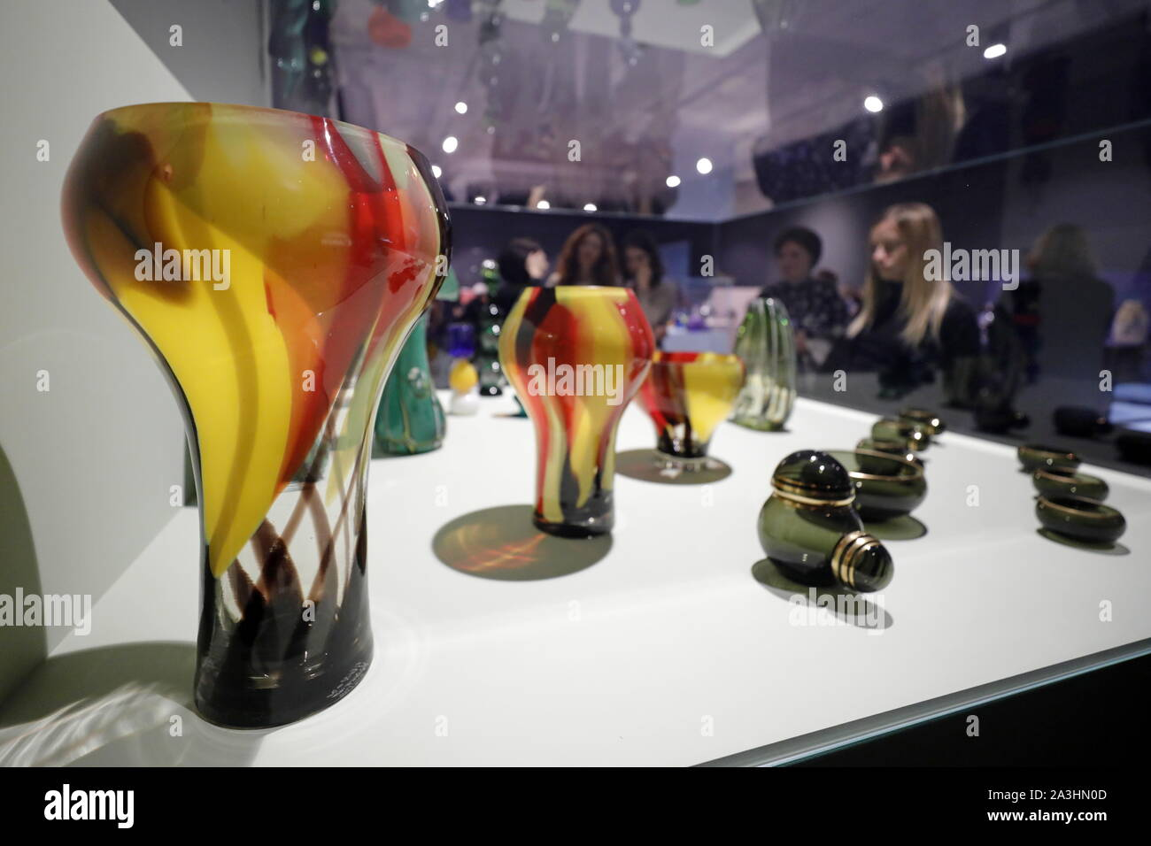 Moscow Russia 08th Oct 2019 Moscow Russia October 8 2019 The Na Prosvet Exhibition Of Soviet And Post Soviet Glass Art At The All Russia Museum Of Decorative Applied And Folk Art Mikhail
