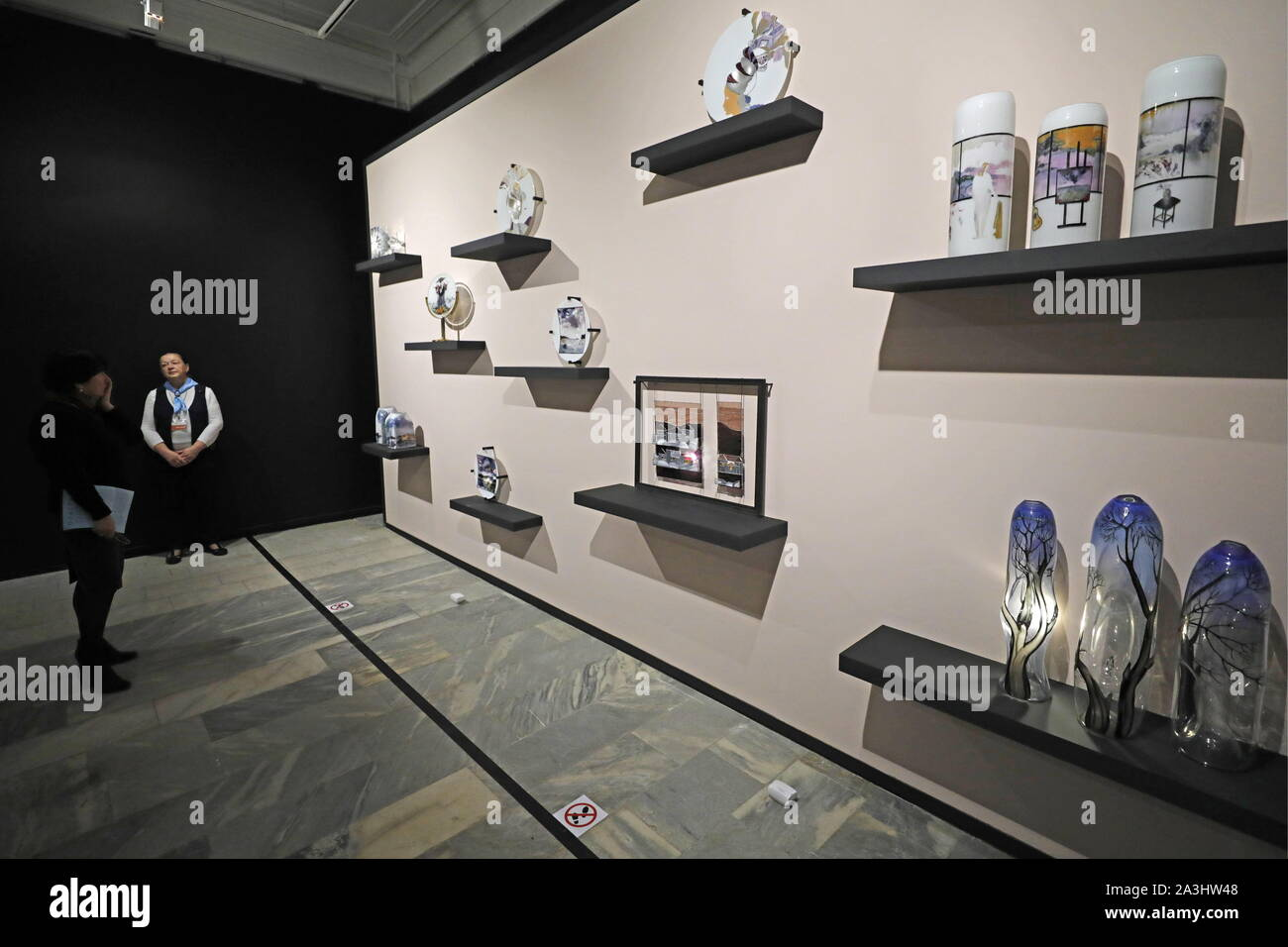 Moscow Russia October 8 2019 The Na Prosvet Exhibition Of Soviet And Post Soviet Glass Art At The All Russia Museum Of Decorative Applied And Folk Art Mikhail Japaridze Tass Stock Photo Alamy