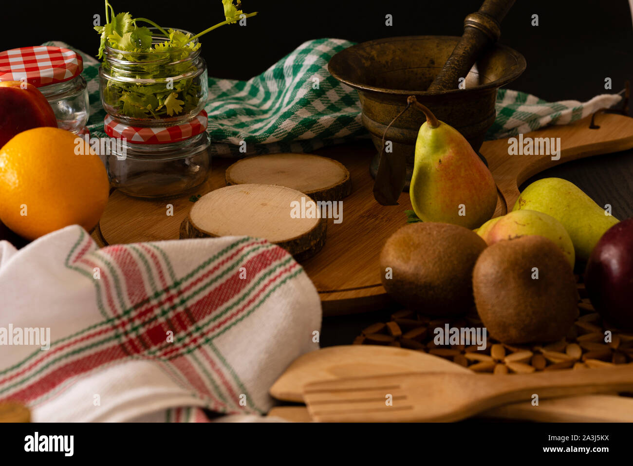 Fruits and vegetables organics Stock Photo