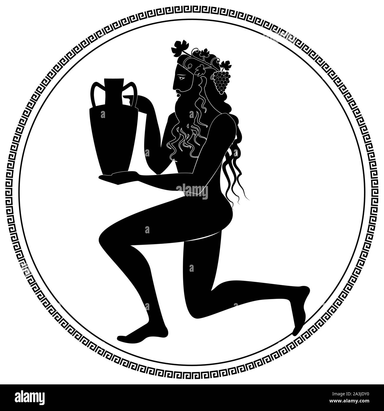 Man Knee On Land Holding An Amphora Wearing Crown Of Grape Leaves And Bunches Of Grapes Representation Of The God Dionysus Greek Circular Ornament Stock Vector Image Art Alamy Search more high quality free transparent png images on pngkey.com and share it with your friends. https www alamy com man knee on land holding an amphora wearing crown of grape leaves and bunches of grapes representation of the god dionysus greek circular ornament image329247044 html