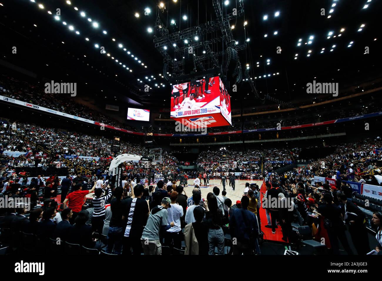Saitama Japan 8th Oct 2019 General View Basketball Nba