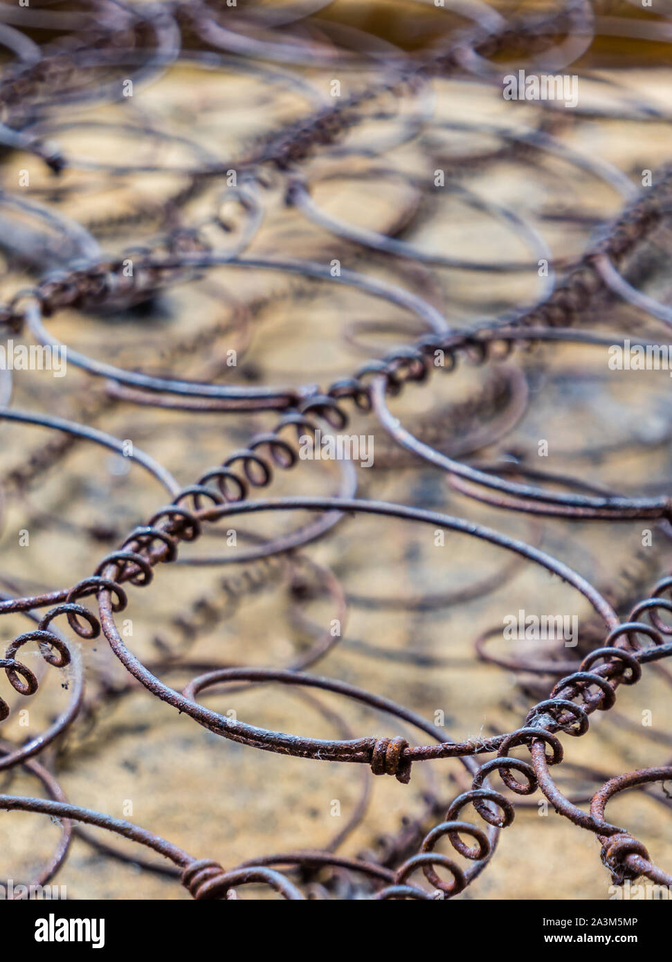 Metal Springs Of An Old Mattress Stock Photo Alamy