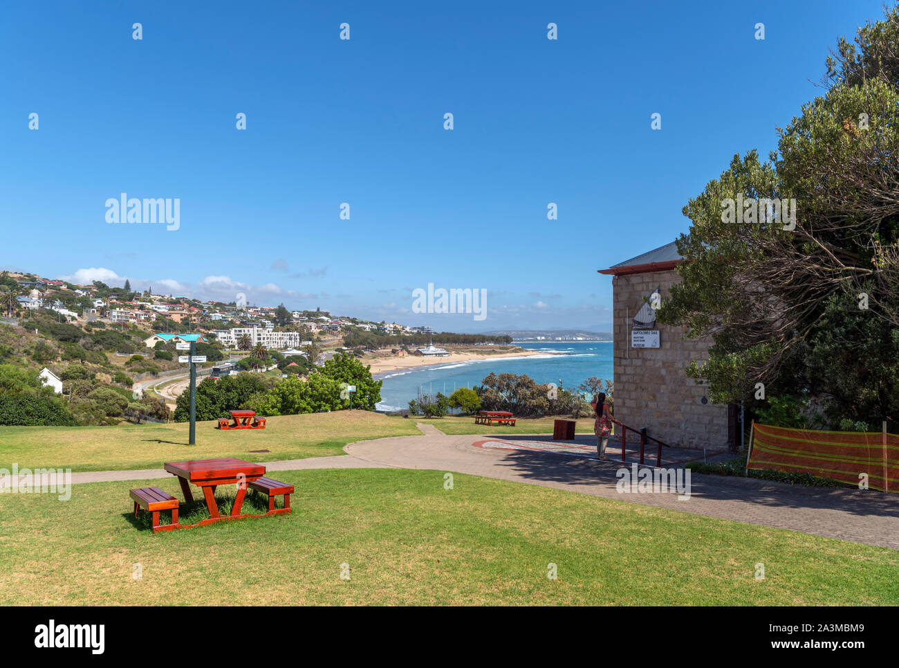 Santos beach viewed from the Dias Museum Complex, Mossel Bay, Garden Route, Western Cape, South Africa Stock Photo