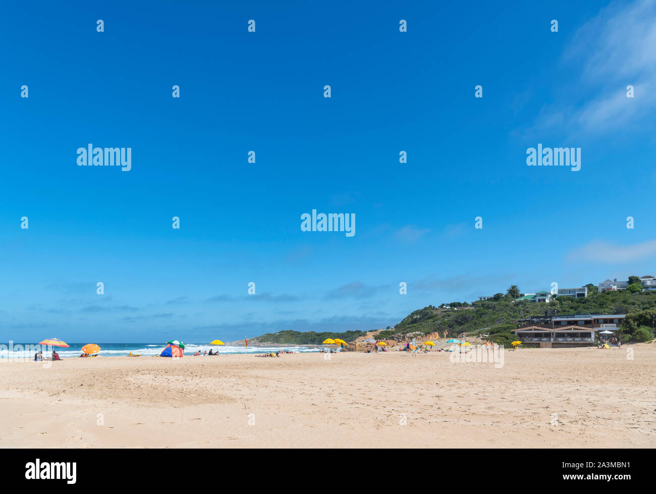 The beach at Plettenberg Bay, Garden Route, Western Cape, South Africa Stock Photo