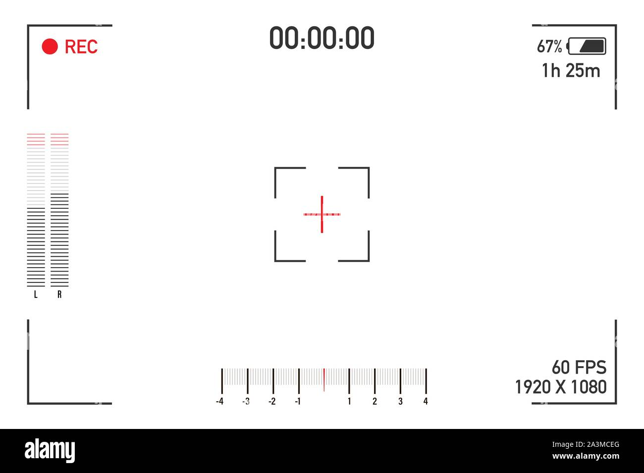 Camera View Viewing Images Visual Screen Focusing Video Recording Screen On A Transparent Background Vector Illustration Stock Vector Image Art Alamy
