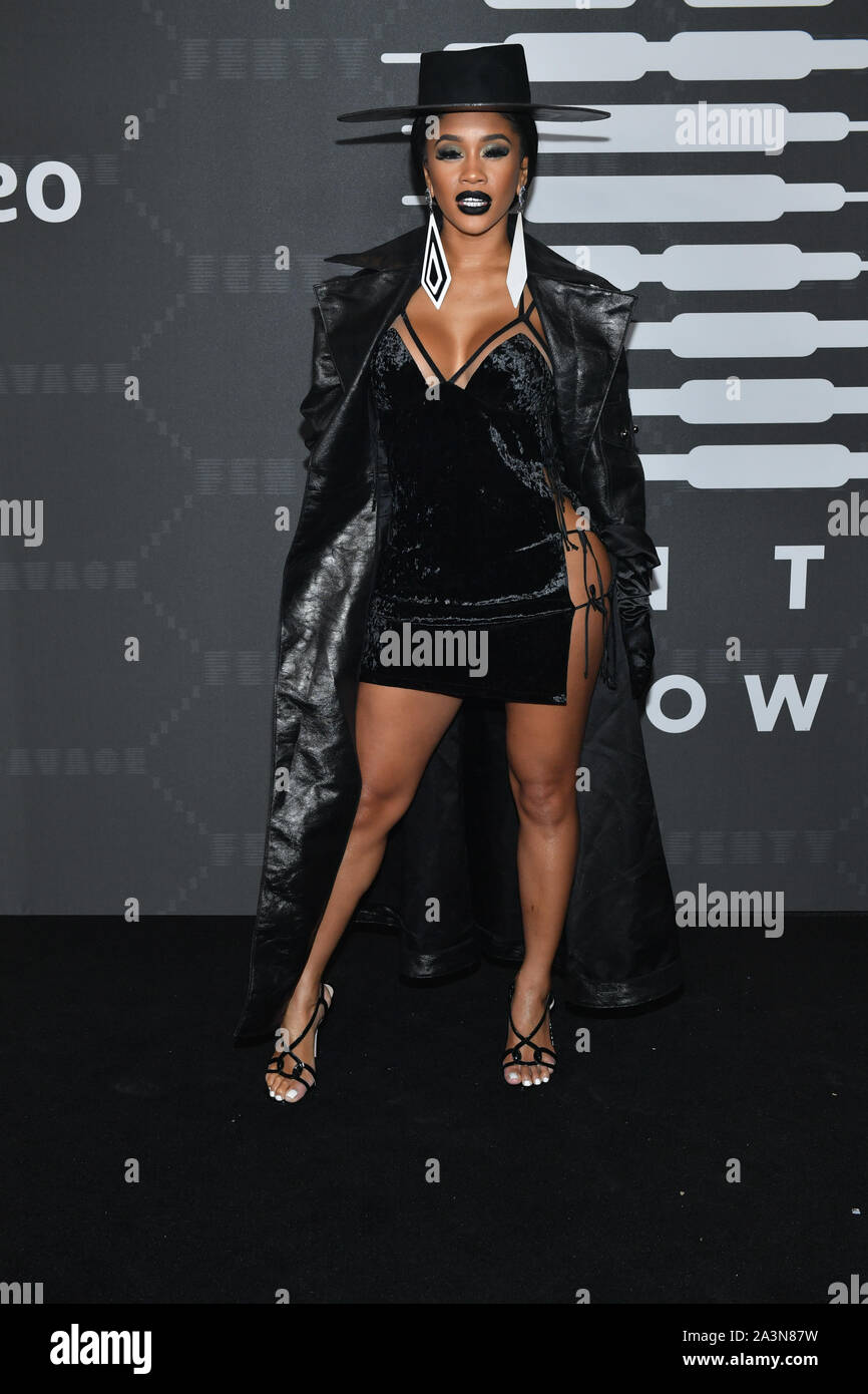 Saweetie attends the Savage x Fenty arrivals during New York Fashion Week at Barclays Center on September 10, 2019 in New York City. Stock Photo