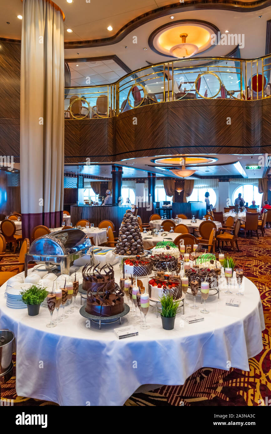 The Reflections Dining Room On Board The Royal Caribbean Cruise Ship Serenade Of The Seas Stock Photo Alamy