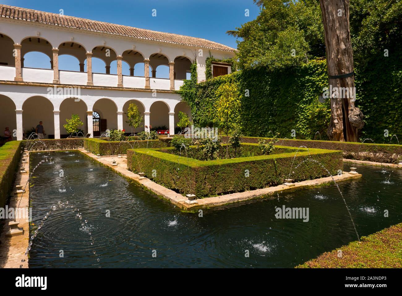 Generalife Gardens Alhambra Granada Spain Stock Photo