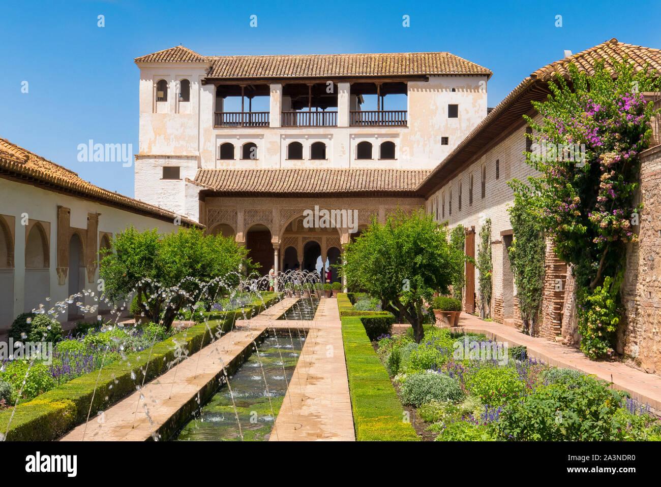 GeneralIfe Gardens at the Alhambra in Granada Spain Stock Photo