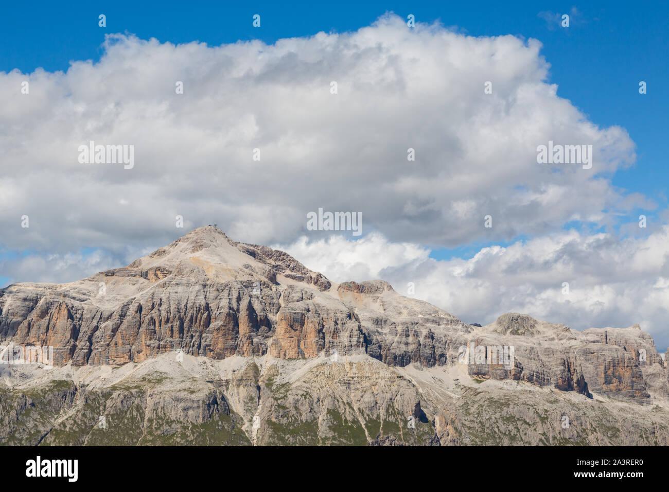 Piz Boe mountain of Sella group in UNESCO world heritage Dolomites Stock Photo