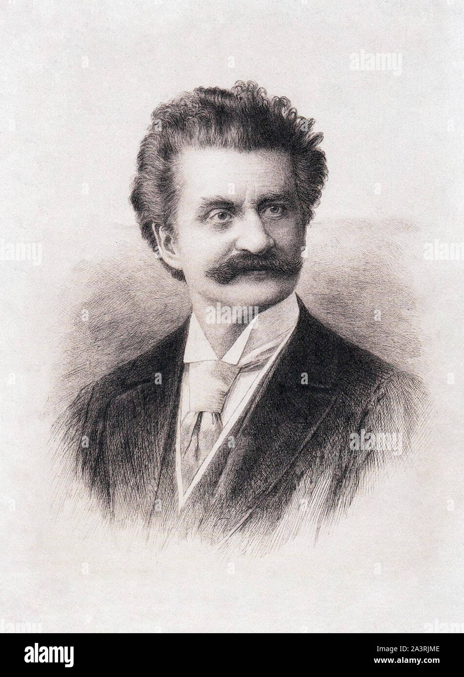 Johann Strauss II (1825 – 1899), also known as Johann Strauss Jr., the Younger, the Son, son of Johann Strauss I, was an Austrian composer of light mu Stock Photo