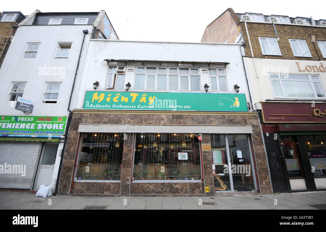 Photo Must Be Credited C Kate Green Alpha Press 079965 11 12 2015 Mien Tay Vietnamese Restaurant On Kingsland Road In London Stock Photo 329372037 Alamy