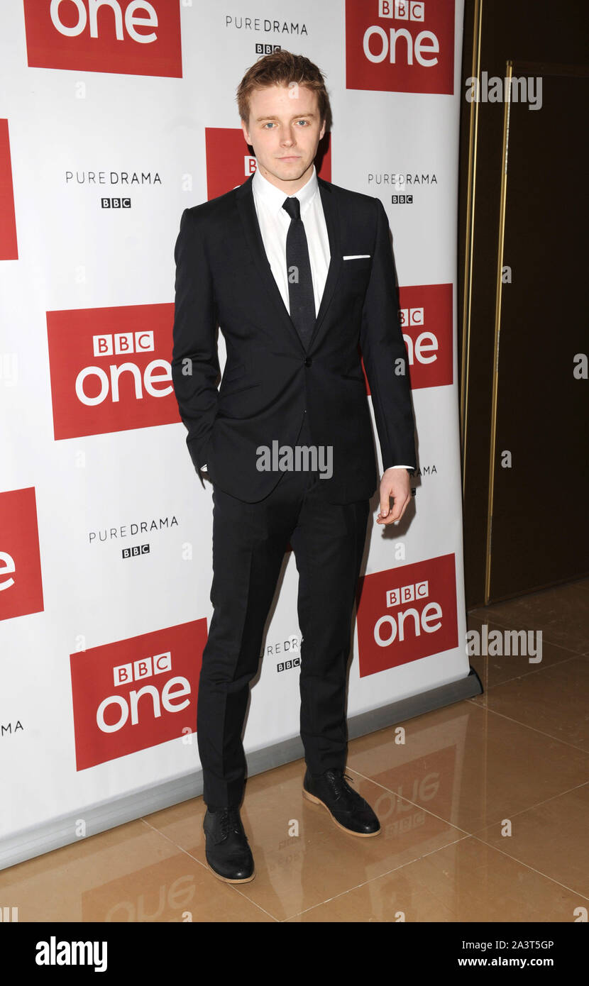 Photo Must Be Credited ©Kate Green/Alpha Press 079965 14/12/2015  Jack Lowden BBC One drama, War & Peace Photocall  The Mayfair Hotel London Stock Photo