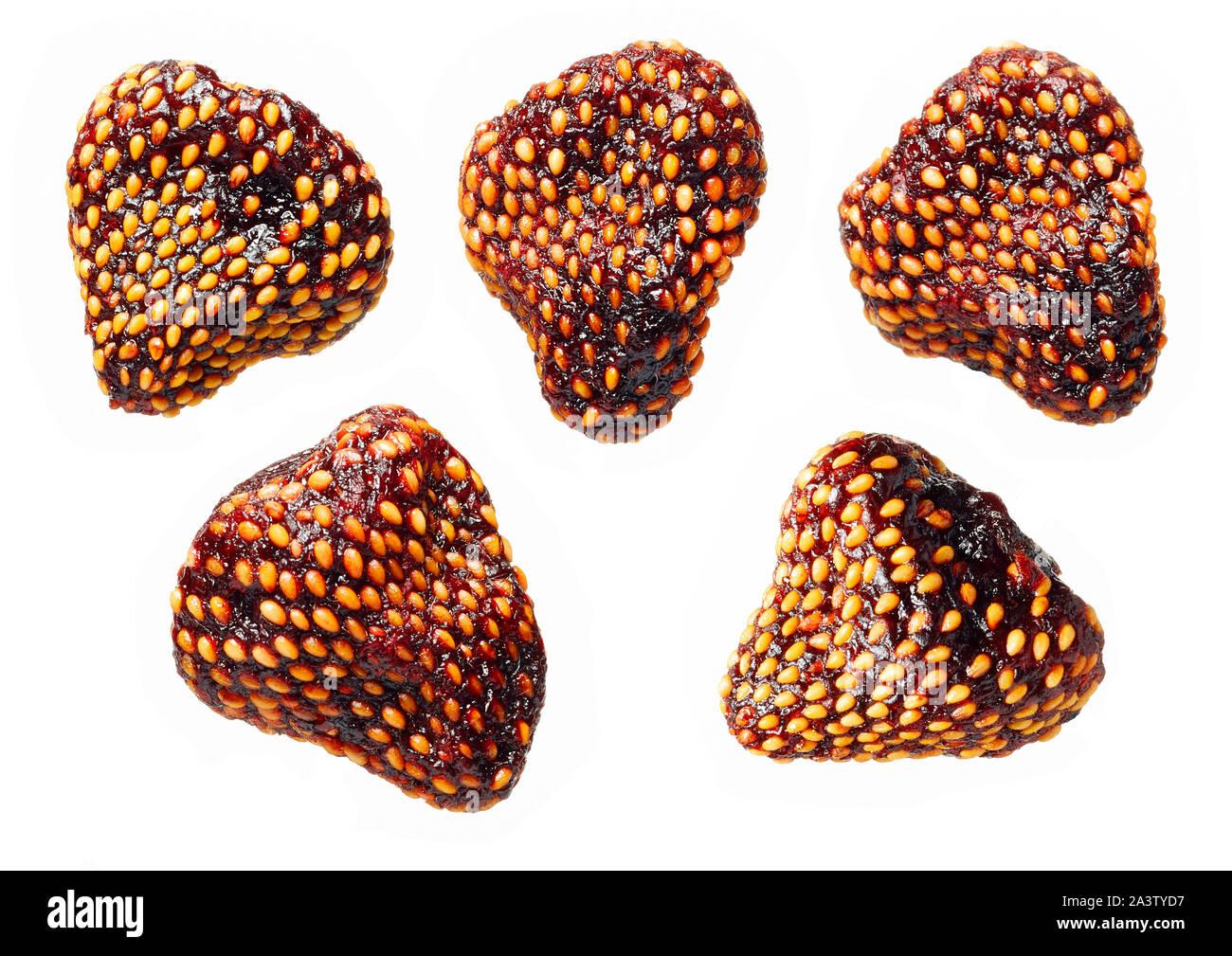 sun dried strawberries Stock Photo