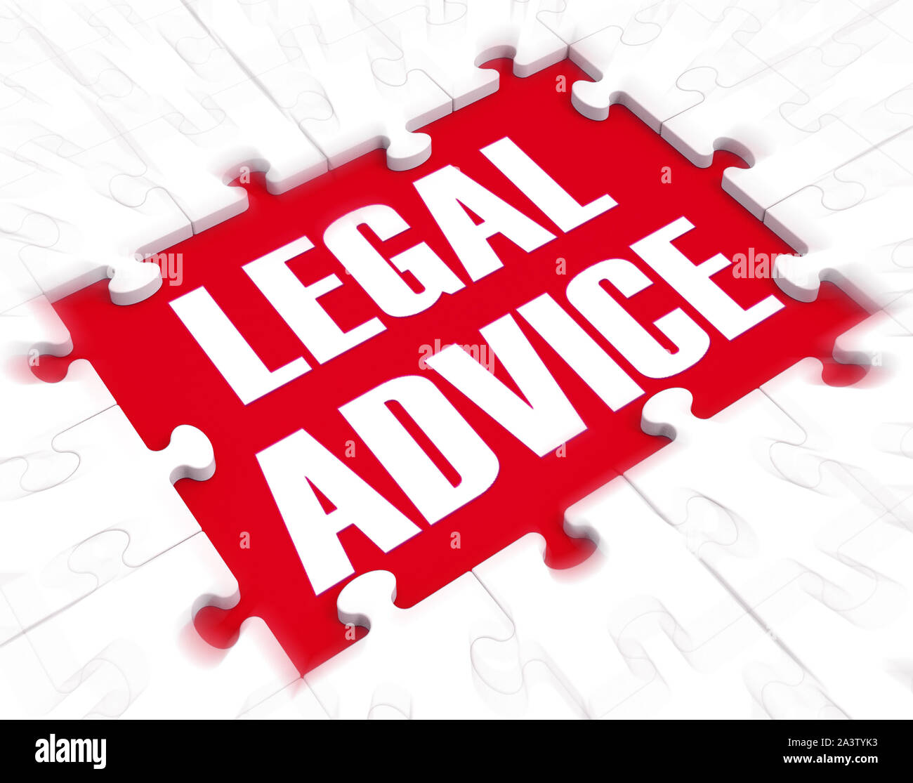 Legal advice concept means getting defence from a lawyer or Counsel. Consultation and guidance from an expert - 3d illustration Stock Photo