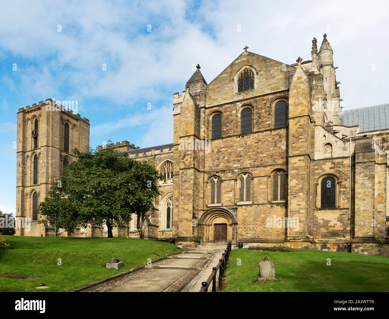 Cathedral Church of St Peter and St Wilfrid or Ripon Cathedral at Ripon North Yorkshire England Stock Photo