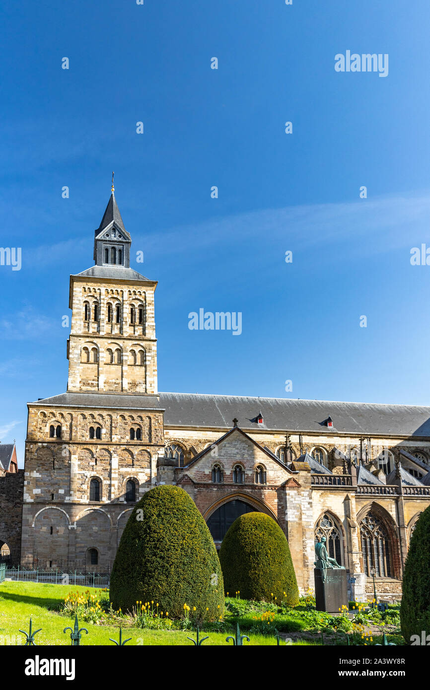 Basilica of Saint Servatius view in Maastricht , Holland Stock Photo
