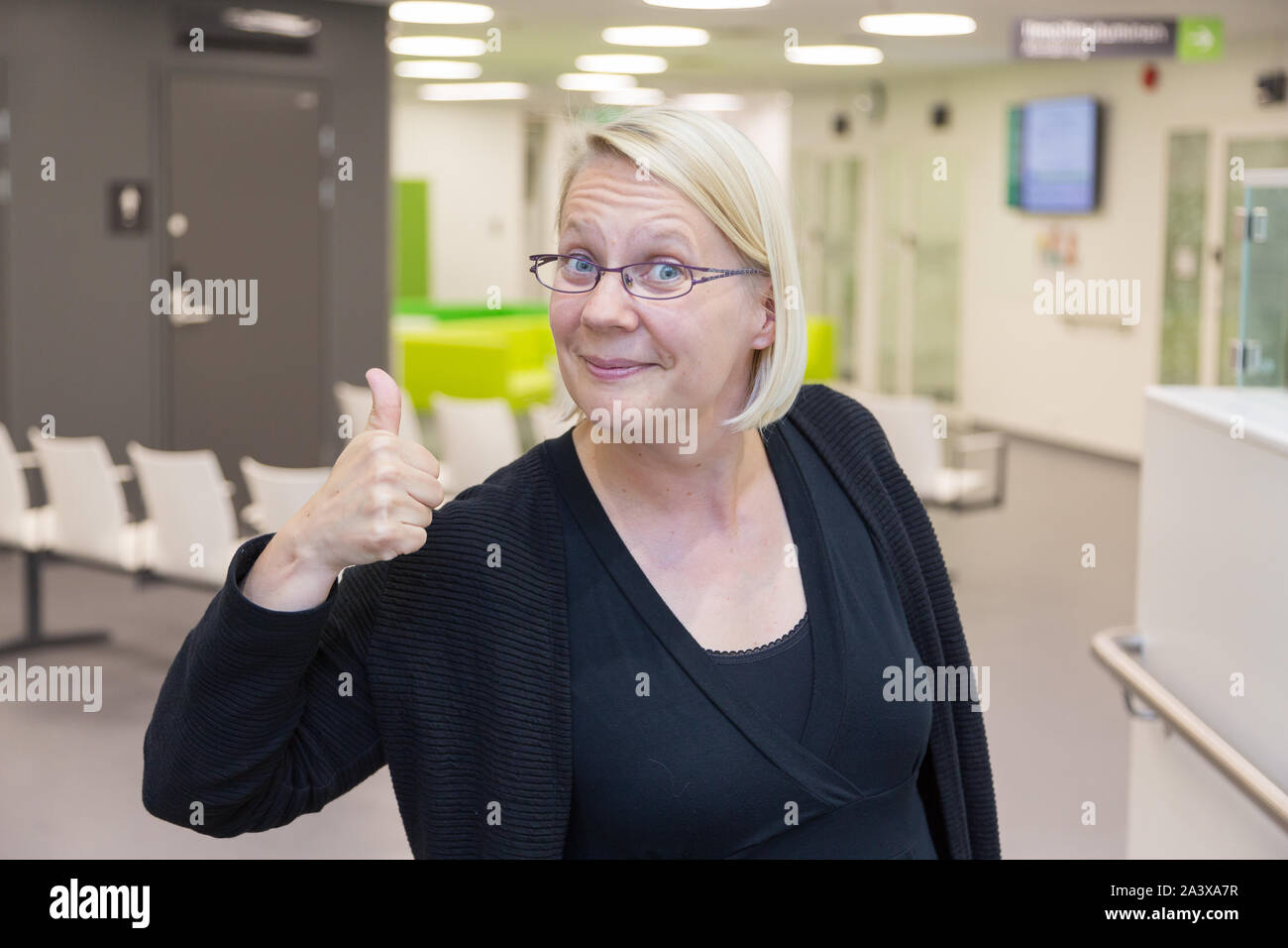 At the medical health center in Finland Stock Photo