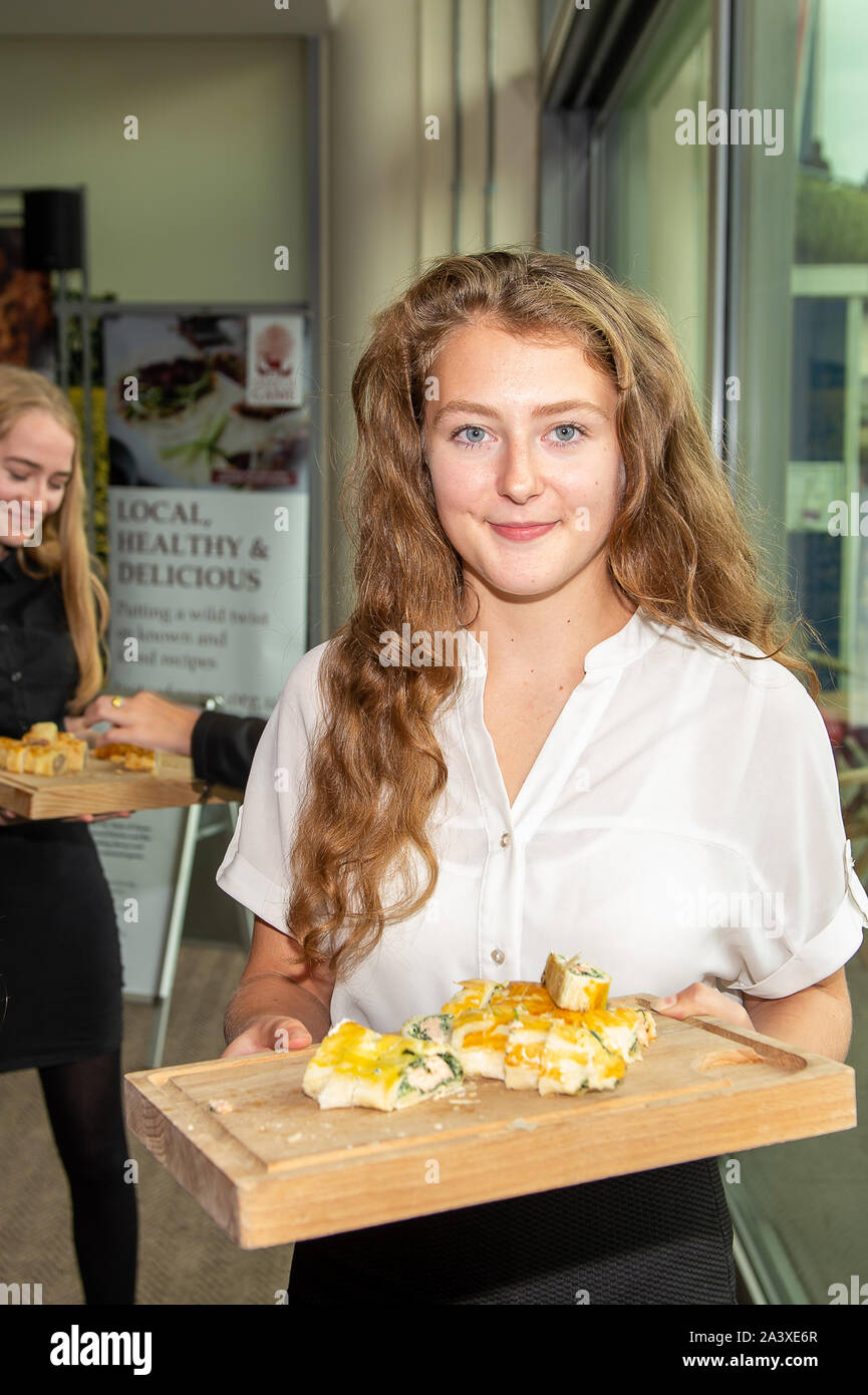 Autumn Racing Weekend & Ascot Beer Festival, Ascot Racecourse, Ascot, Berkshire, UK. 5th October, 2019. Students from Reading College take part in the Ascot Sausage Roll Competition.  Credit: Maureen McLean/Alamy Stock Photo