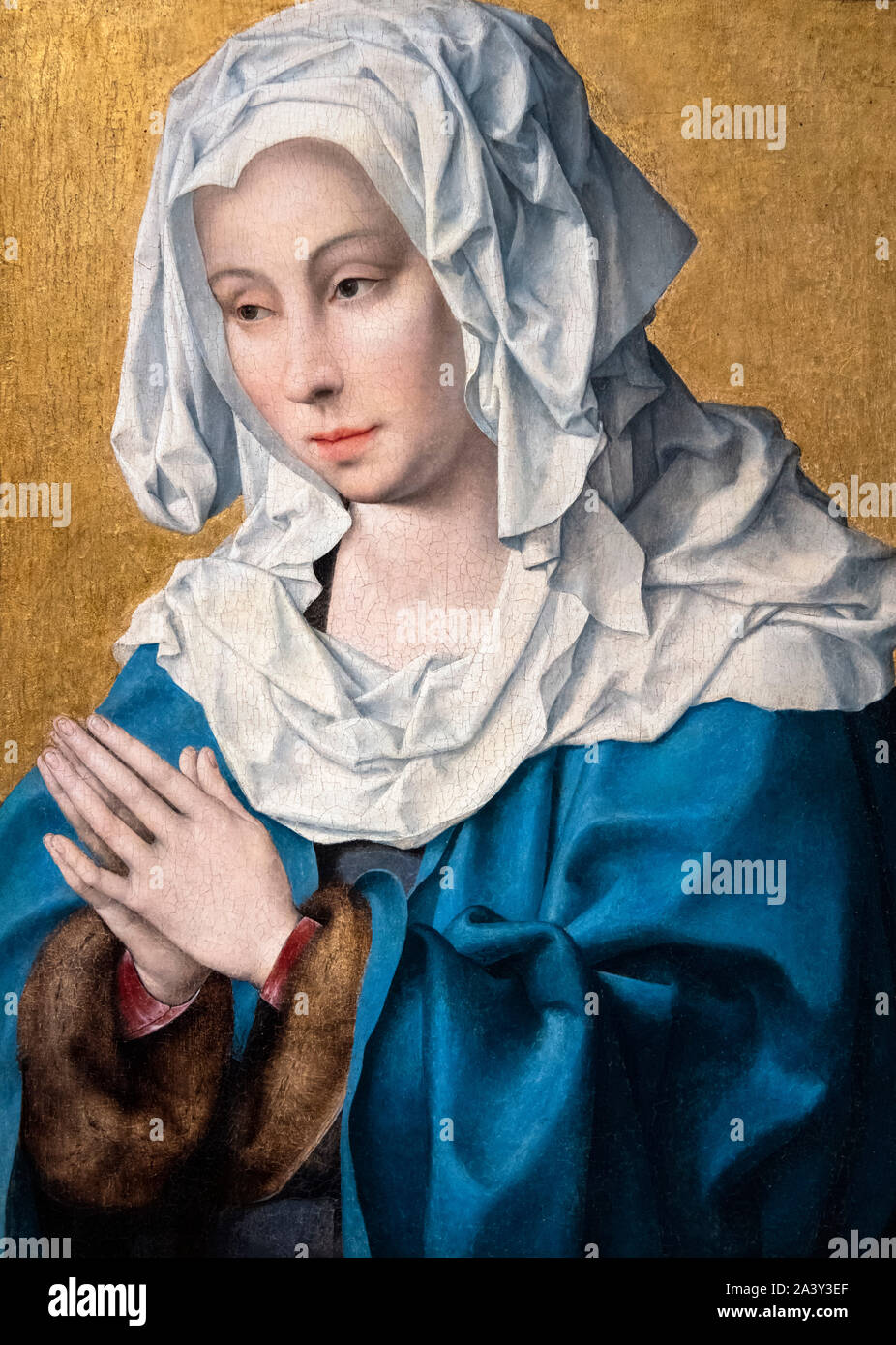 Virgin of Sorrows (Mater Dolorosa) by Joos Van Cleve (1485-1540/41), oil on panel, c.1520-30 Stock Photo