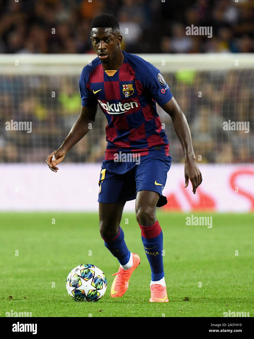 Barcelona Spain 10th Oct 2019 Barcelona 02 10 2019 Uefa Champions League 2019 2020 Date 2 Barcelona Inter De Milan Ousmane Dembele Of Fc Barcelona During The Match Fc Barcelona V Juventus Fc