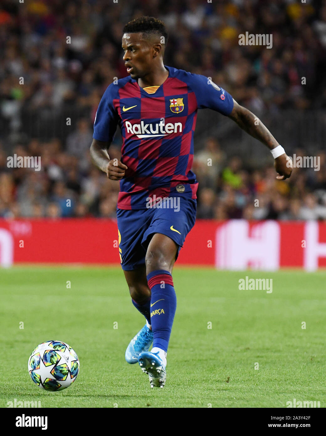 Barcelona Spain 10th Oct 2019 Barcelona 02 10 2019 Uefa Champions League 2019 2020 Date 2 Barcelona Inter De Milan Nelson Semedo Of Fc Barcelona During The Match Fc Barcelona V Juventus Fc