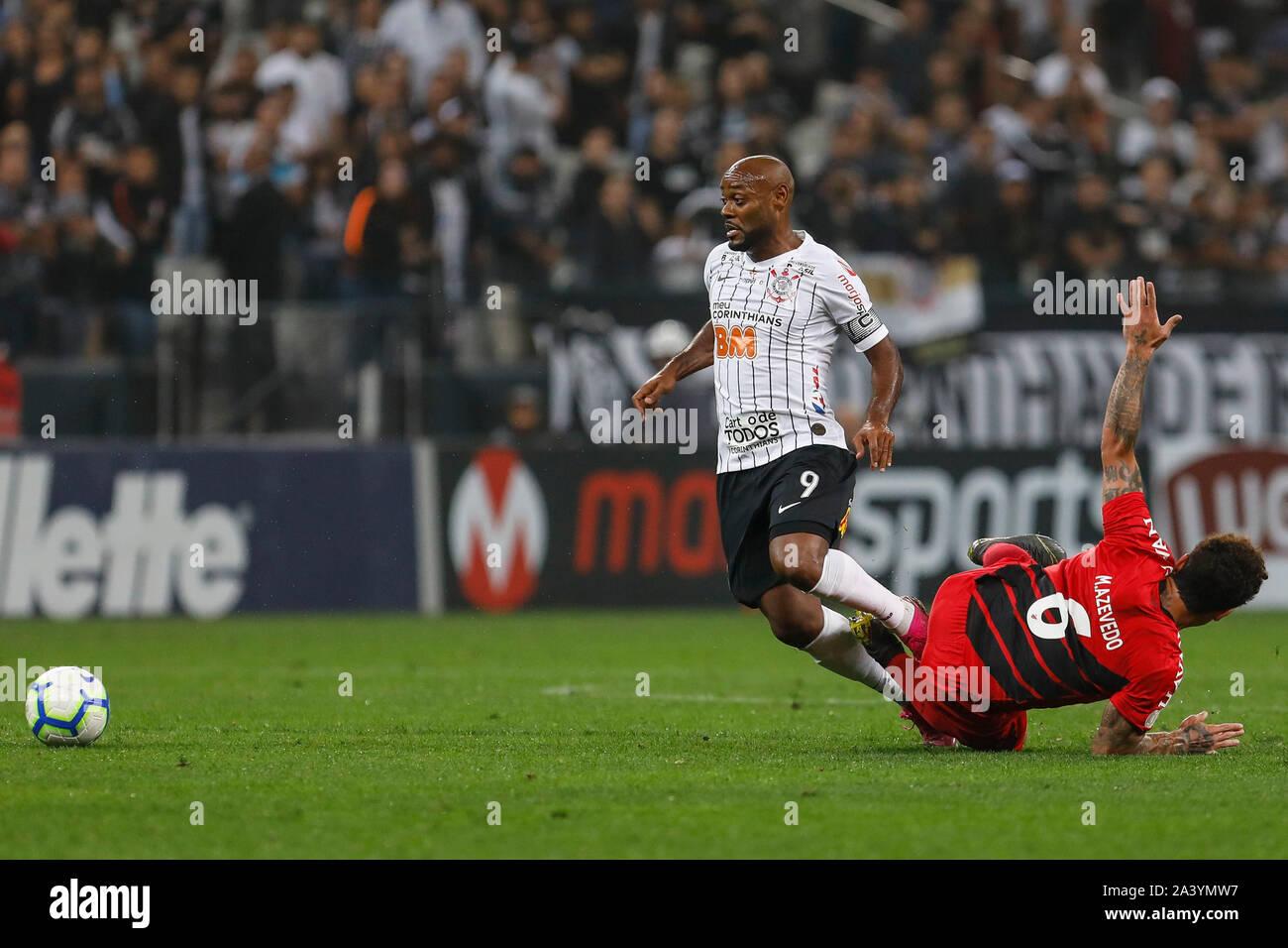Sao Paulo Sp 10 10 2019 Corinthians X Athletico Paranaense Vagner Love And Marcio Azevedo Of Athletico