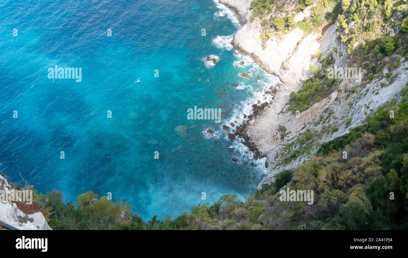 The bay of Kampi from above Stock Photo