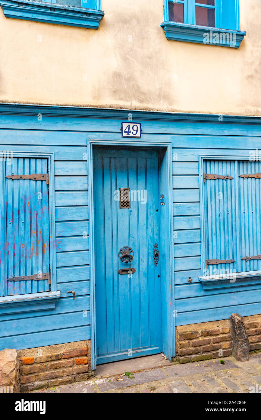 Blue Window Frames High Resolution Stock Photography And Images Alamy