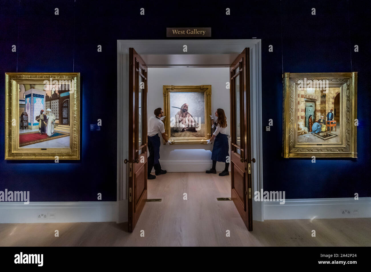 London, UK. 11th Oct 2019. Pictures in the exhibition, but not for sale - Sotheby's Offer 40 Works from the Legendary Najd Collection in a Dedicated Auction on the Evening of 22 October 2019. All 155 Paintings, Never-Before-Seen Together as a Group, will be on Public View from 11 – 15 October. Credit: Guy Bell/Alamy Live News Stock Photo