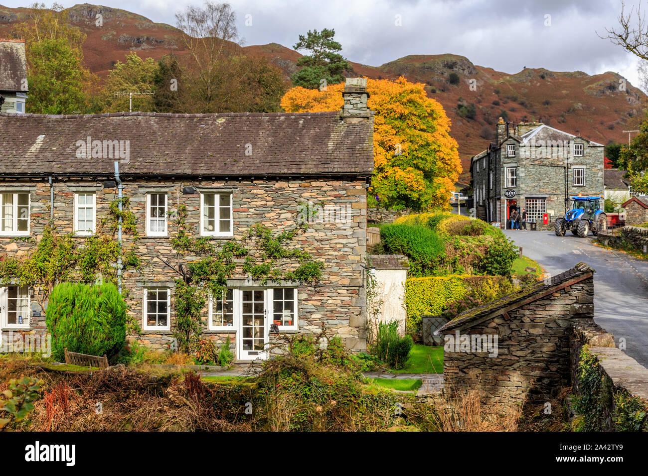 elterwater village,great langdale valley,lake district national park, cumbria, england, uk gb Stock Photo