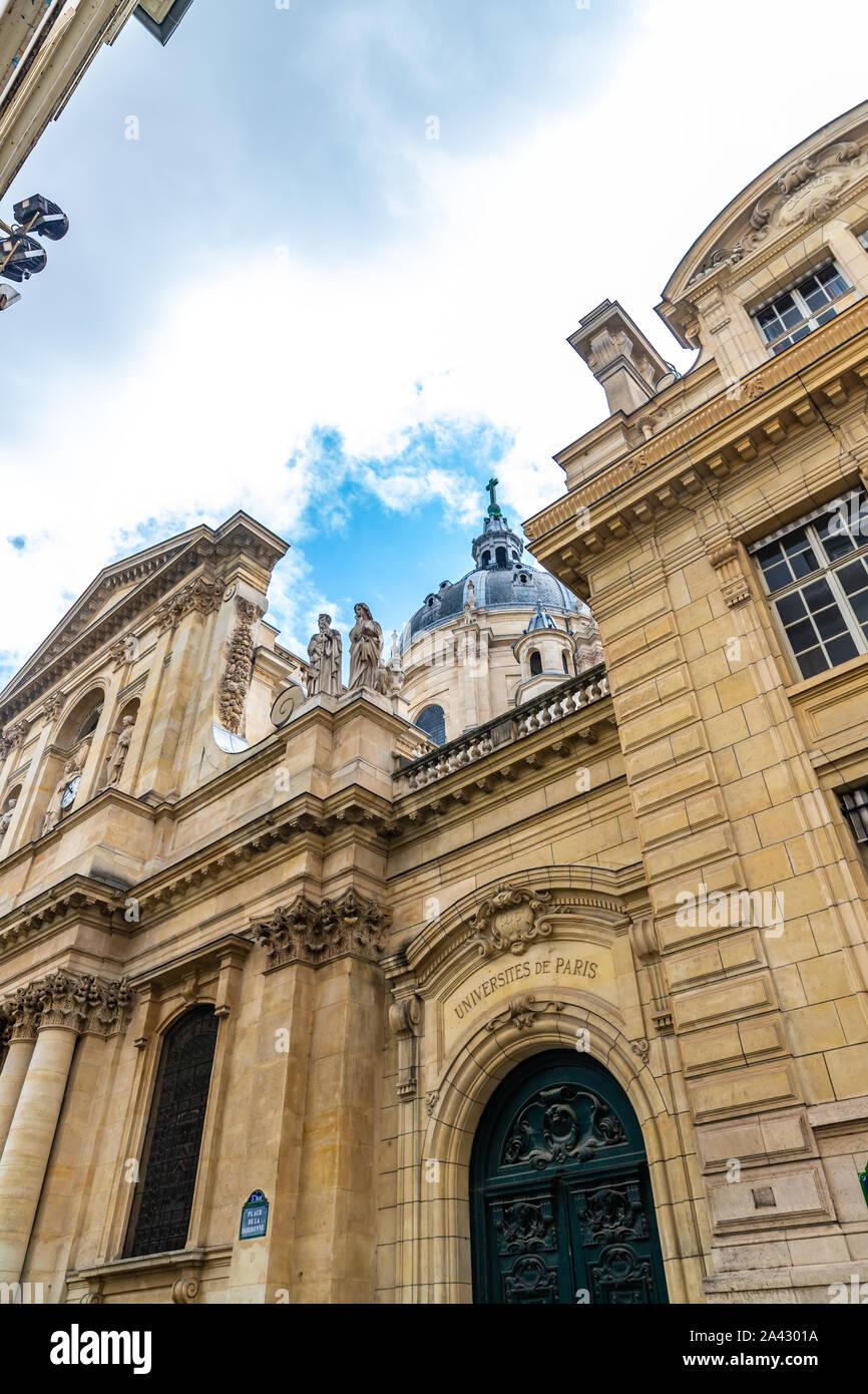 Exterior of University of Paris, Sorbonne, France Stock Photo
