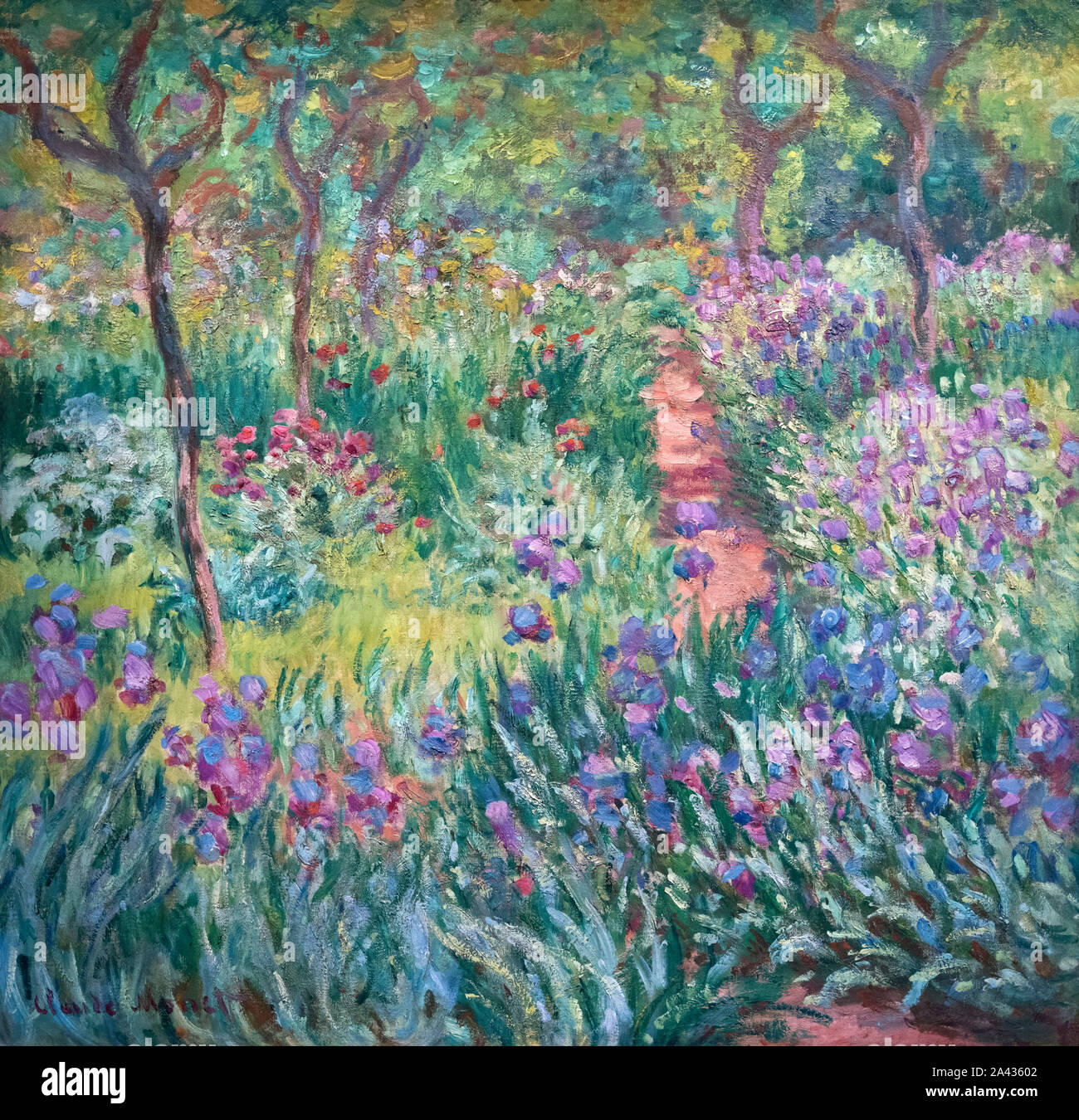 Garden Impressionism Painting High Resolution Stock Photography