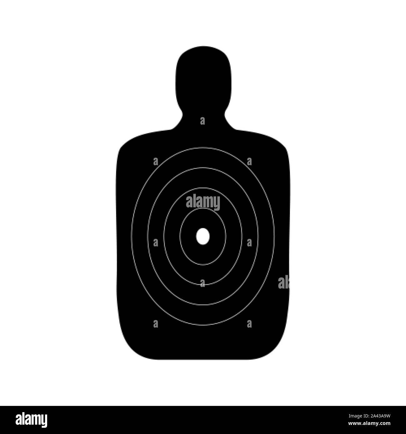 Human body shaped target for a shooting practice Stock Vector